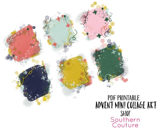 Advent Mini Collage Art Bible Journaling Printable