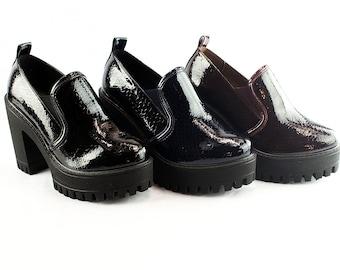 Liyu Women Platform High Heeled Side-Gusset Fashion Shoes-Dress Shoes-Formal Shoes