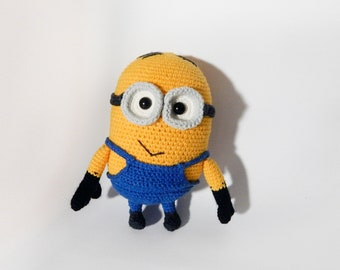 d2a34b51d8f minion Dave crochet. Despicable Me Cartoon. Soft toy amigurumi