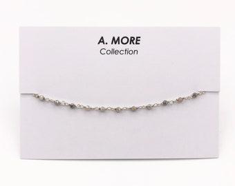 D63467 Sterling Sliver Size 7.25 5 2.5MM Sapphires
