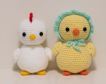 Items Similar To Crochet Rooster Cock Block Amigurumi Plush Doll