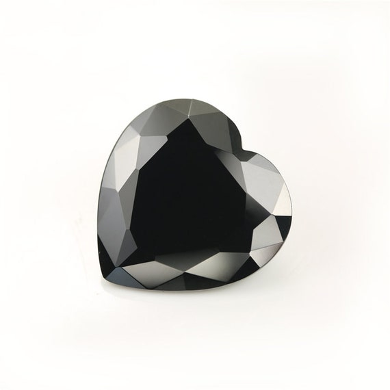930edf3a271 Heart Shape 5A Black Cubic Zirconia Stone Size Synthetic Gems