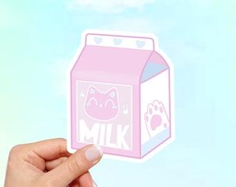 Milk Carton Vinyl Sticker, Cat Sticker