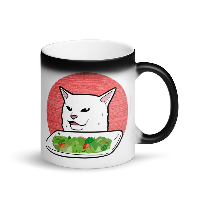 Women vs Cat Coffee Cup image 0