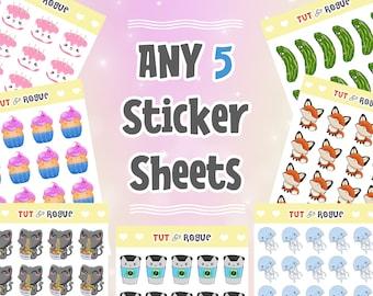 Sticker Pack Pick 5 Sticker Sheets