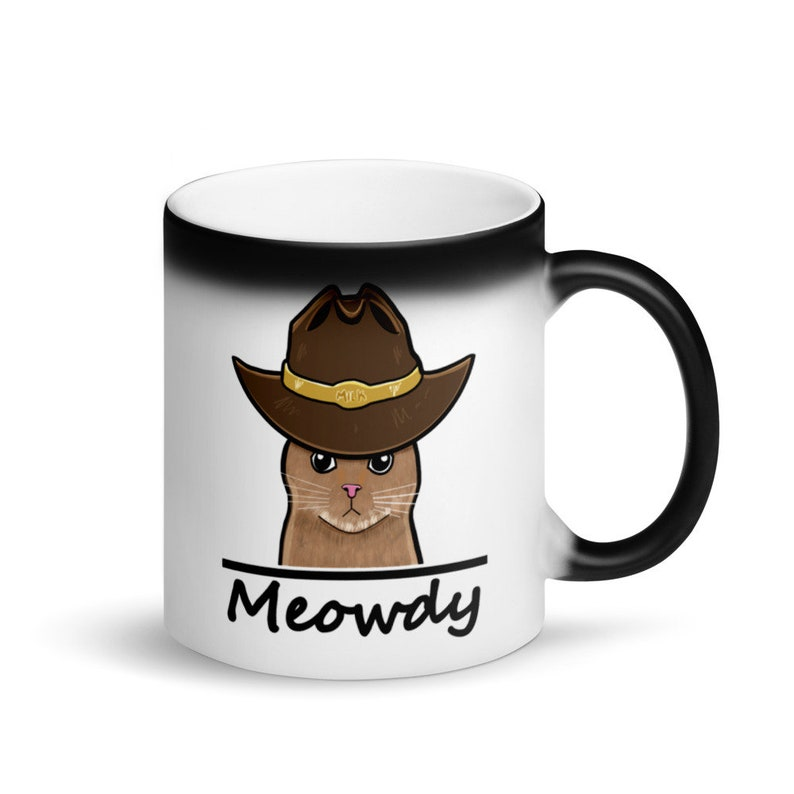 Cowboy Cat Coffee Cup image 0