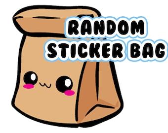 10 Random Vinyl Stickers Bag, Mystery Vinyl Stickers pack, Kawaii Vinyl Stickers