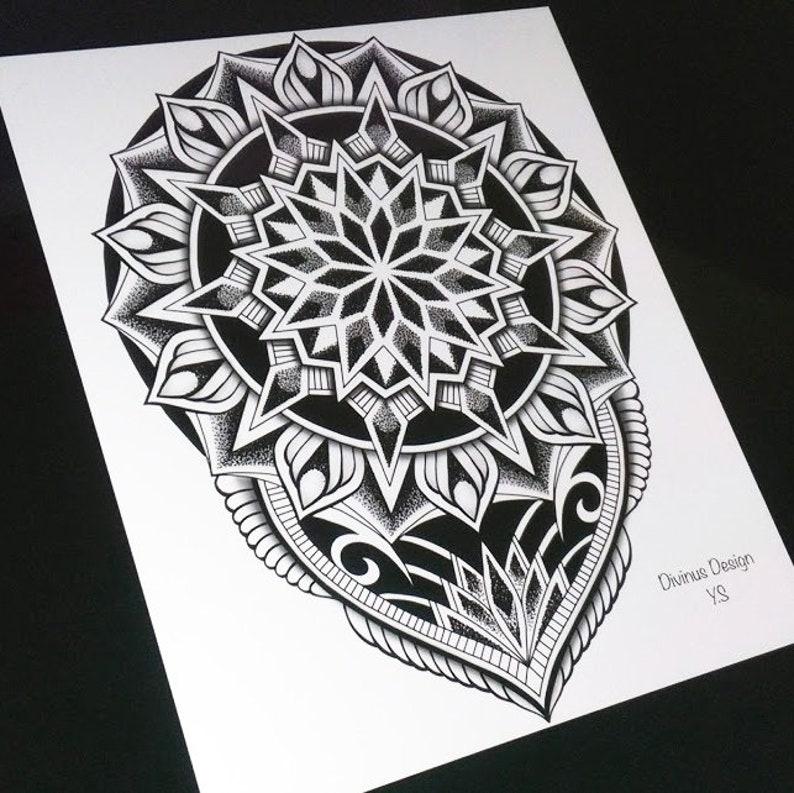 Men Shoulder Geometric Tribal Mandala Tattoo And Stencil Instant Digital Download