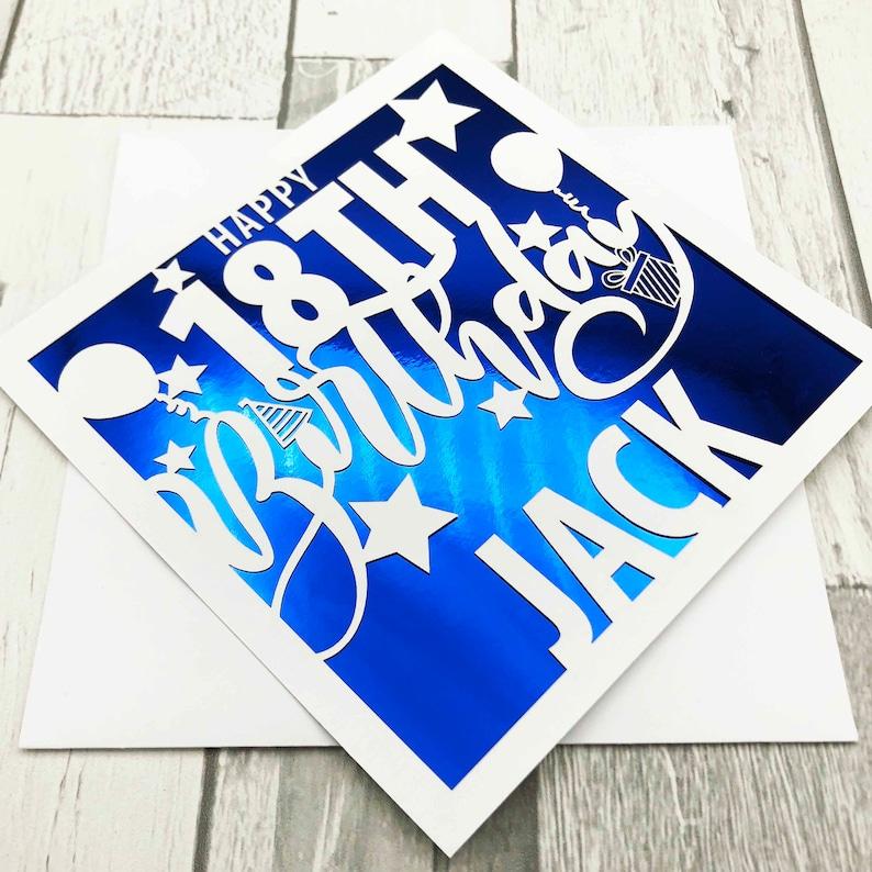 Personalised 18th Birthday Card18th Birthday Card18th Blue Mirror