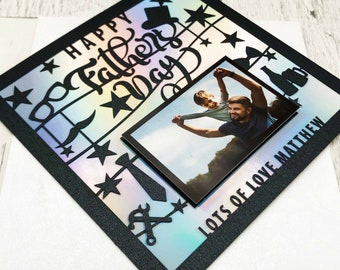 Personalised Father's Day Photo Card,Father's Day Card,Father's Day Gift,Picture Card,Handmade Cards,Lasercut,Father's Day,XOXODESIGNSUK