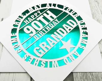 Personalised 90th Birthday Card,90th Birthday Card,90th Birthday,90th Gift,90th Mum,90th Dad,Handmade,Lasercut, XOXO DESIGNS UK