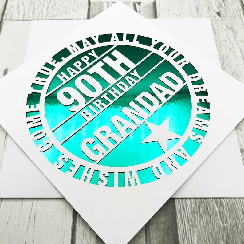 Personalised 90th Birthday Card90th Birthday Card90th Green Mirror