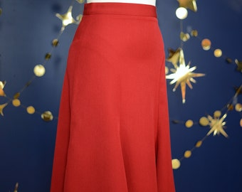 30s style trumpet skirt in red size US 6