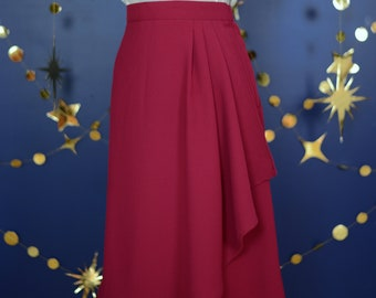 40s style wrap skirt in red, size US 10