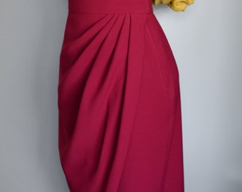 Vintage 1950s style wrap skirt in polyester crepe, new colors! Made to order sizes US 0-24