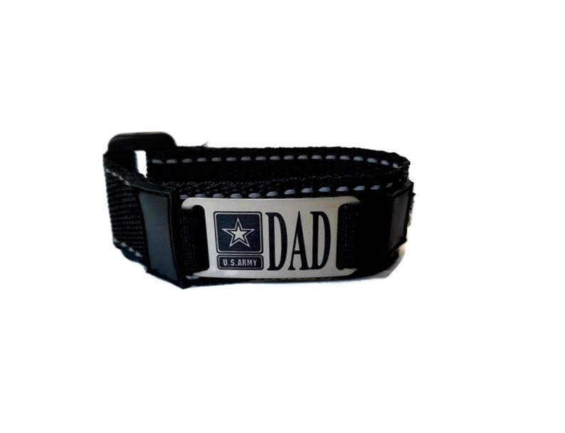 Free Domestic Shipping Army Custom Engraved Sporty Nylon Adjustable Bracelet