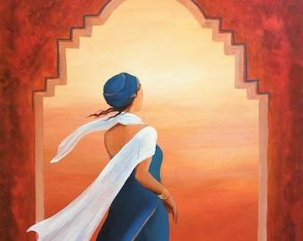 3d8ed2573f3b Voyage - peinture acrylique, Trésor de la danseuse du ventre Pack de  Baubo.co.uk, l image originale, Oriental, cartes Oracle, toile