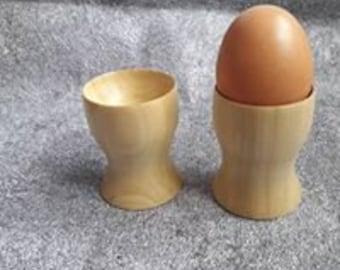 handmade wooden egg cup