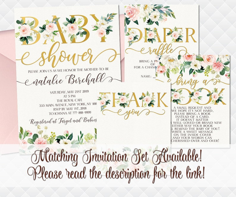Floral Banner It/'s a girl sign toddler wall letters baby shower decoration boho decor bohemian rose gold bunting banner pink roses digital