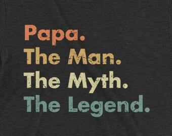 9cb4d8904 Papa The Man The Myth The Legend Premium Triblend T-shirt - Gifts for him  dad hubby husband grandfather grandpa
