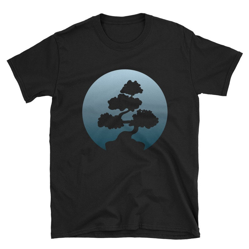 Bonsai T-Shirt Of The Japanese Tree Buddhist Baby Blue Moon image 0