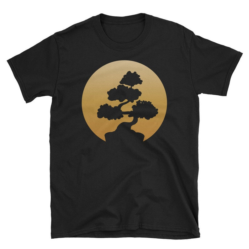Bonsai Unisex T-Shirt  A Golden Japanese Bonsai Tree for image 0