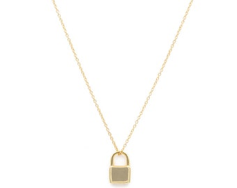 teen padlock pendant necklace