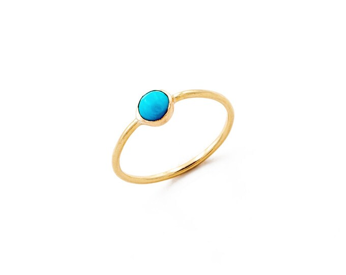 Featured listing image: turquoise stacking ring