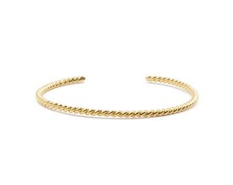 rope open cuff bracelet