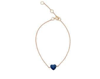 lapis heart bracelet