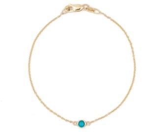 single stone turquoise bracelet