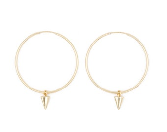 large endless hoops with charm