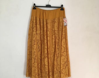 43a52d16c2f Midi skirt italian lace plus size Woman gonna in pizzo