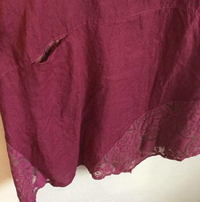 1835301950e Linen and lace italian curvy dress abito in lino e pizzo