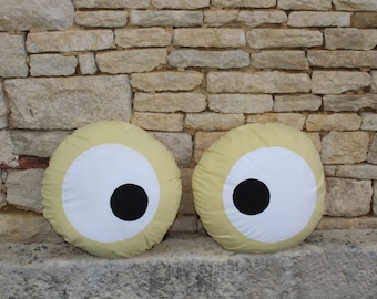 Cushions-naturally dyed and painted eyes