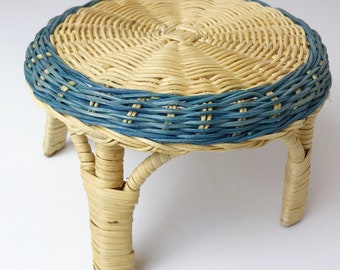 Small Wicker Plant Stand Stool