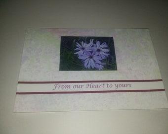 Purple flower sympathy