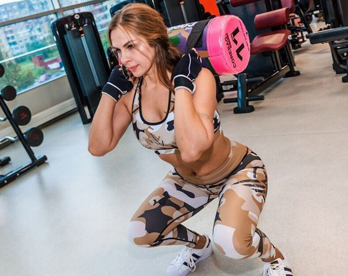 Bodybuilding Leggings | Workout High Waist Leggings | Gym Squat Proof Capris