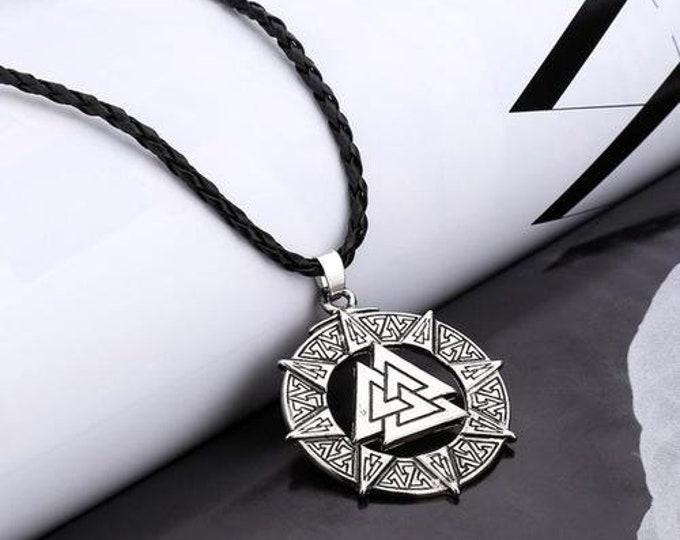 Slavic Norway Valknut Pagoda Necklaces Amulet