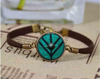 Vintage Bracelet Unisex | The Shield of Lagertha Bracelet