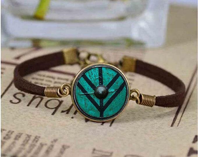 Vintage Bracelet Unisex | The Shield of Lagertha Bracelet