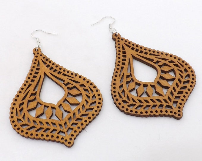 Madeira Wood Earrings | Very Comfortable on Your Ears