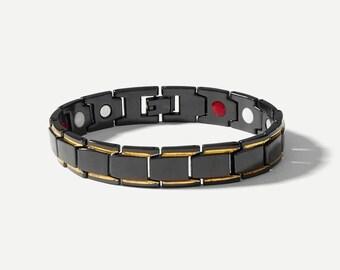 Men Wide Magnetic Bracelet