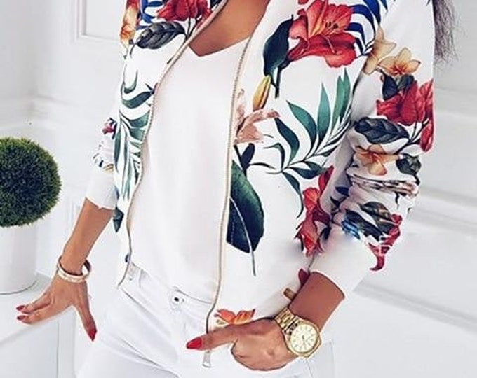 Flower Bomber Jacket | Pair With Denim & Sneakers for The Perfect Weekend Outfit