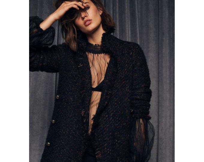 Knitted Cardigan | Double-Breasted Button Closing | Warm and Soft Quality