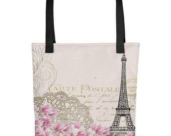 Paris Eiffel Tower Tote Bag | Trendy, Spacious and Water Resistant