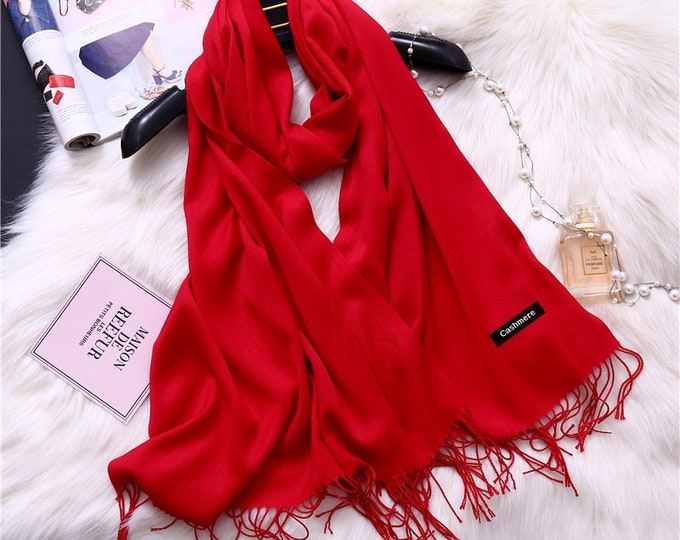 Pashmina Scarf | Long Solid Cashmere Scarf