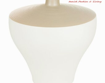 Vase White Brown Elegance Collection | Danish Home & Living  | Flower Vase | UNIQUE