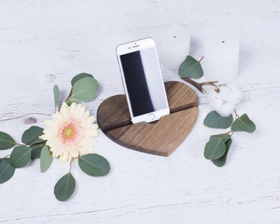 Petite amie bureau decor bureau bureau accessoires téléphone en bois