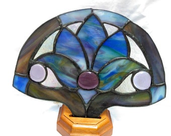 Stained Glass Lamp Light / Vintage/ Original
